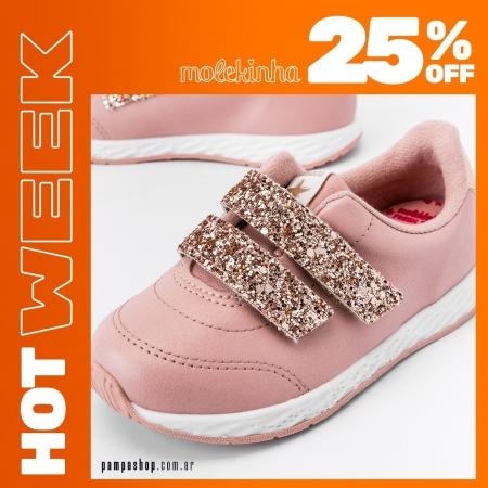 🧡 Hola #HotWeek 🧡 25% OFF 🧡 #Molekinha 🔥 Hasta el 16/05 💳 6 CUOTAS SIN INTERÉS DE $529,25 👉 Exclusivo para compras en pampashop.com.ar  #zapatillasniña #zapatillas #zapatillas2021 #calzadoniños #zapateria