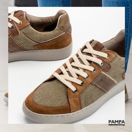Zapatillas #RINGO 😎 Excelente calidad, cuero y lona combinados, disponibles del N° 39 al 45 👏  💳 6 CUOTAS SIN INTERÉS   #zapatillashombre #calzadohombre #primaveraverano2022 #zapateria