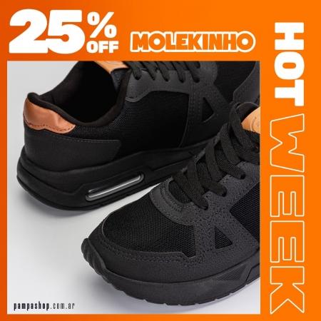 Lo más canchero de #Molekinho con 25% OFF 🧡  🔥 #HotWeek hasta el 16/05 💳 6 CUOTAS SIN INTERÉS  👉 Exclusivo para compras en pampashop.com.ar  #zapatillasniño #zapatillas #zapatillas2021 #calzadoniños #zapateria