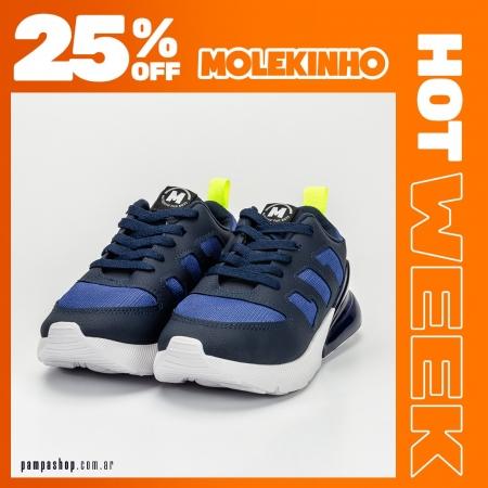 Zapas para niños #Molekinho 🧡 25% OFF 🧡  🔥 #HotWeek hasta el 16/05 💳 6 CUOTAS SIN INTERÉS  👉 Exclusivo para compras en pampashop.com.ar  #zapatillasniño #zapatillas #zapatillas2021 #calzadoniños #zapateria